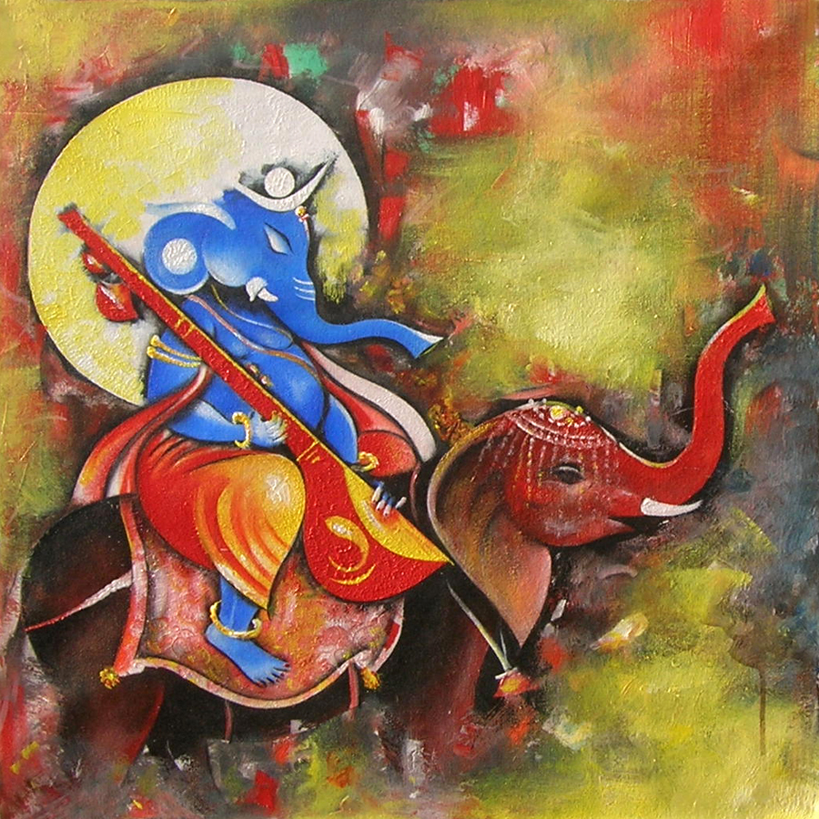 Ganesha By M Singh - Indian Art Ideas